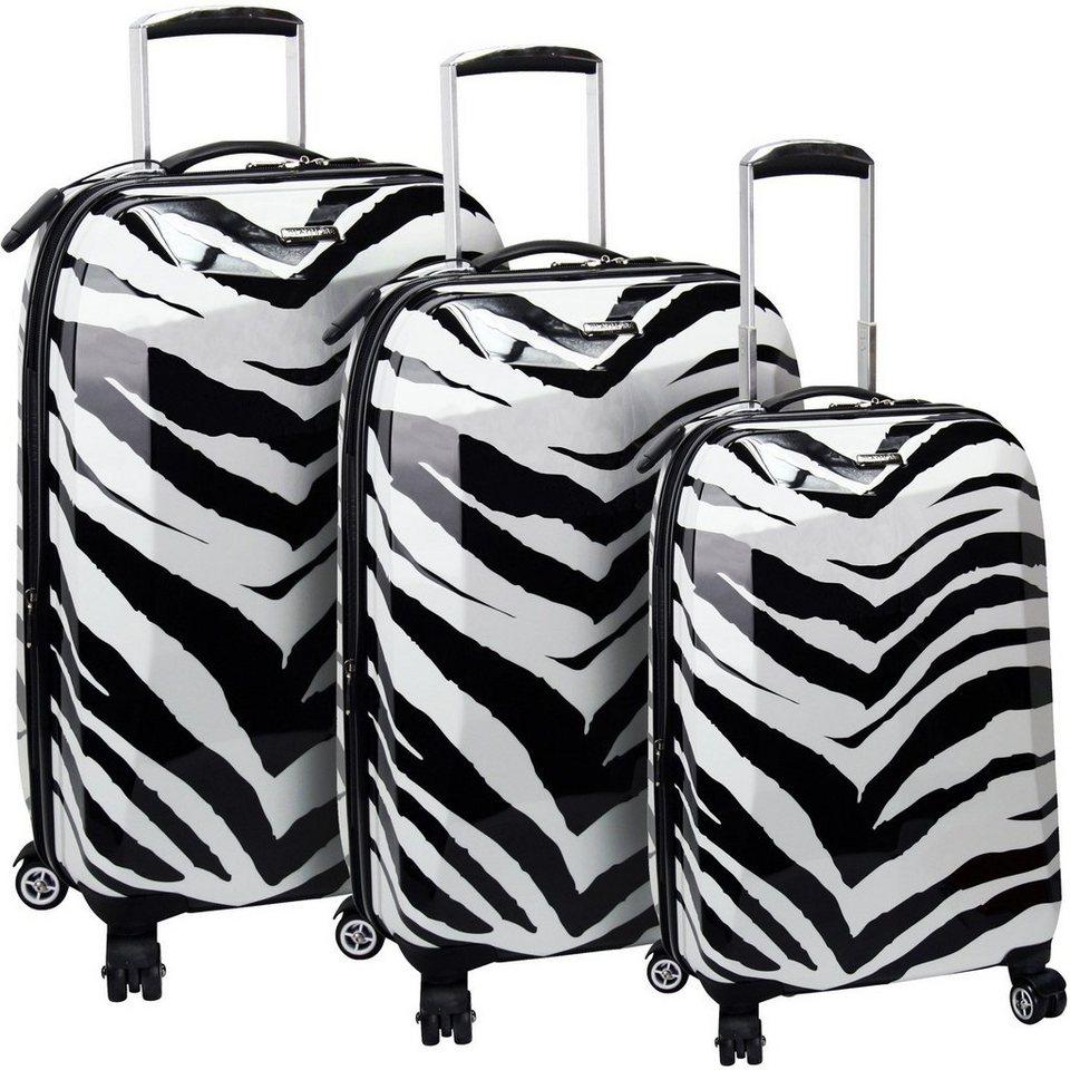 Claymore 4-Rollen Koffer Set I 3tlg. in zebra