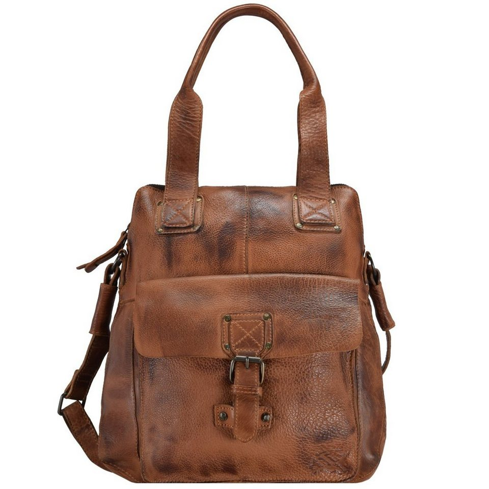 Billy The Kid Panamerica Handtasche Leder 32 cm in cognac