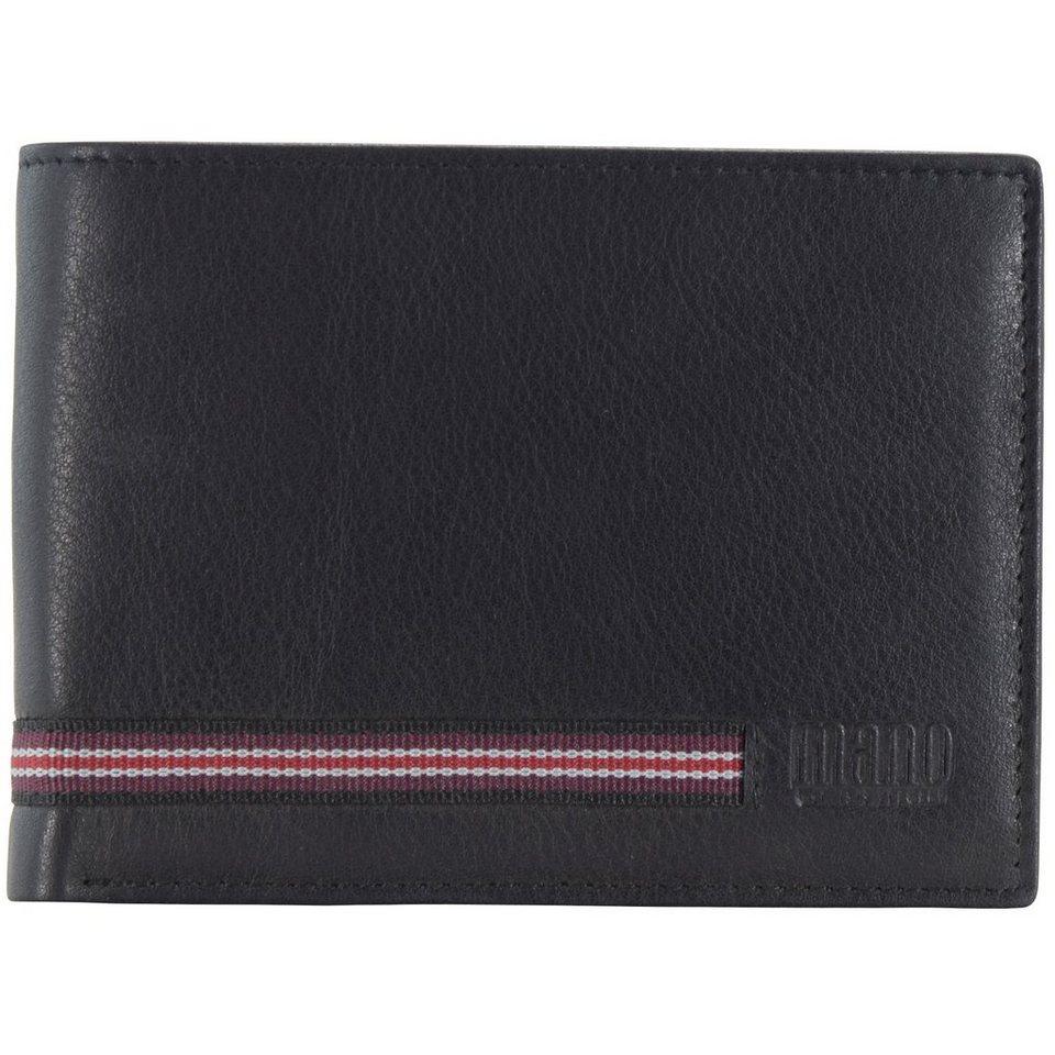 MANO Signum Men Geldbörse Leder 13 cm in schwarz