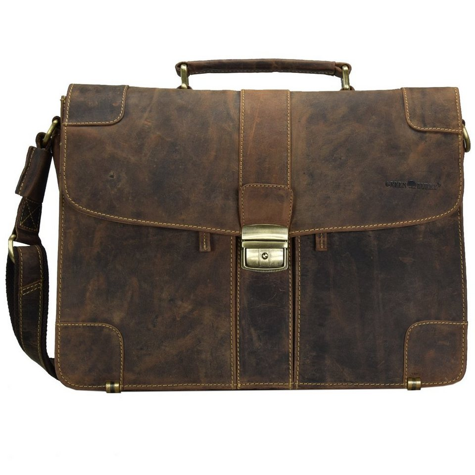 Greenburry Vintage Aktentasche Leder 38.5 cm in brown