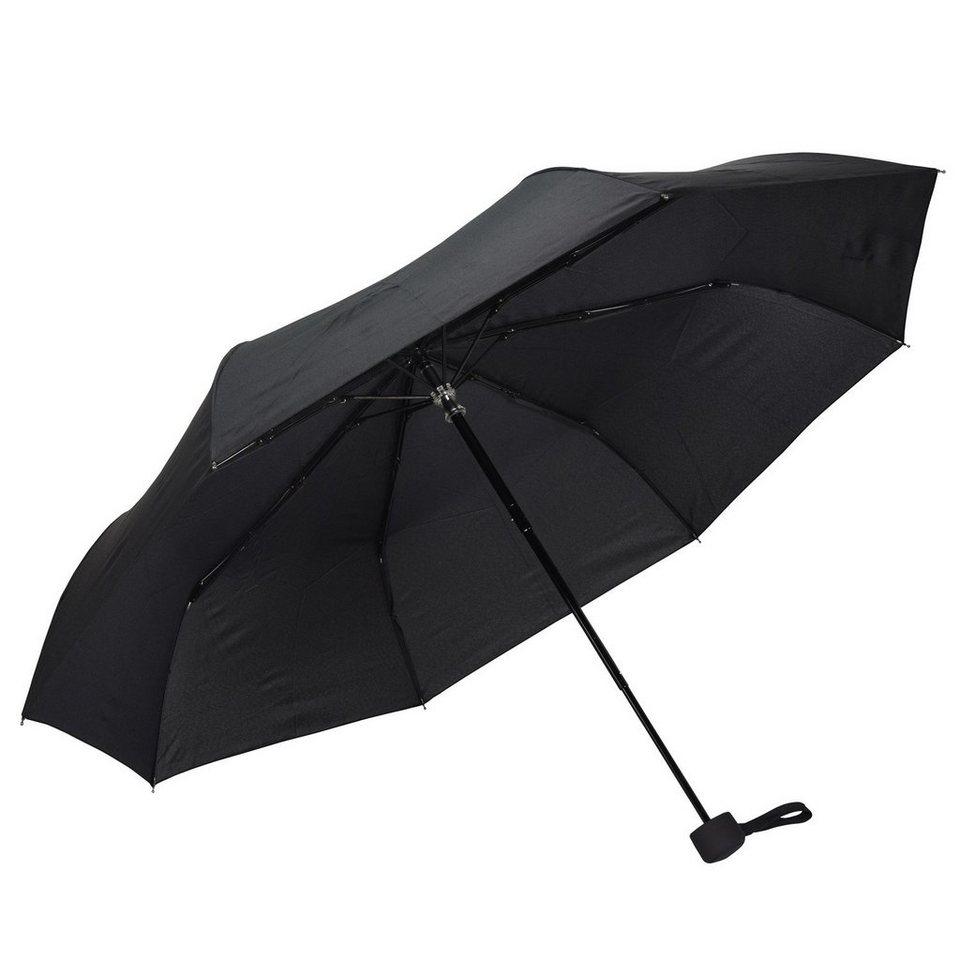 Happy Rain Happy Rain Fiber-MiniTec Taschenschirm 30 cm in schwarz