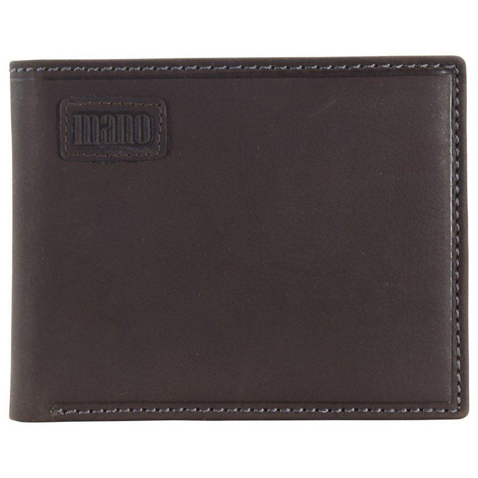 MANO Nota Geldbörse Leder 12 cm in braun