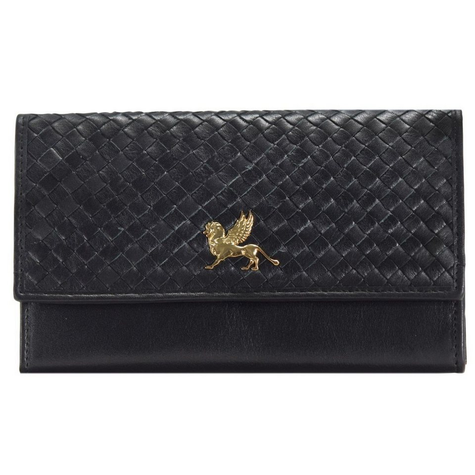 MANO Forte Geldbörse Leder 17 cm in schwarz