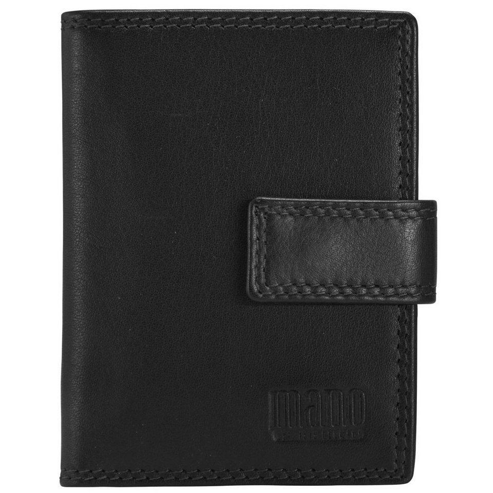 MANO Sutura Kreditkartenetui Leder 8 cm in schwarz