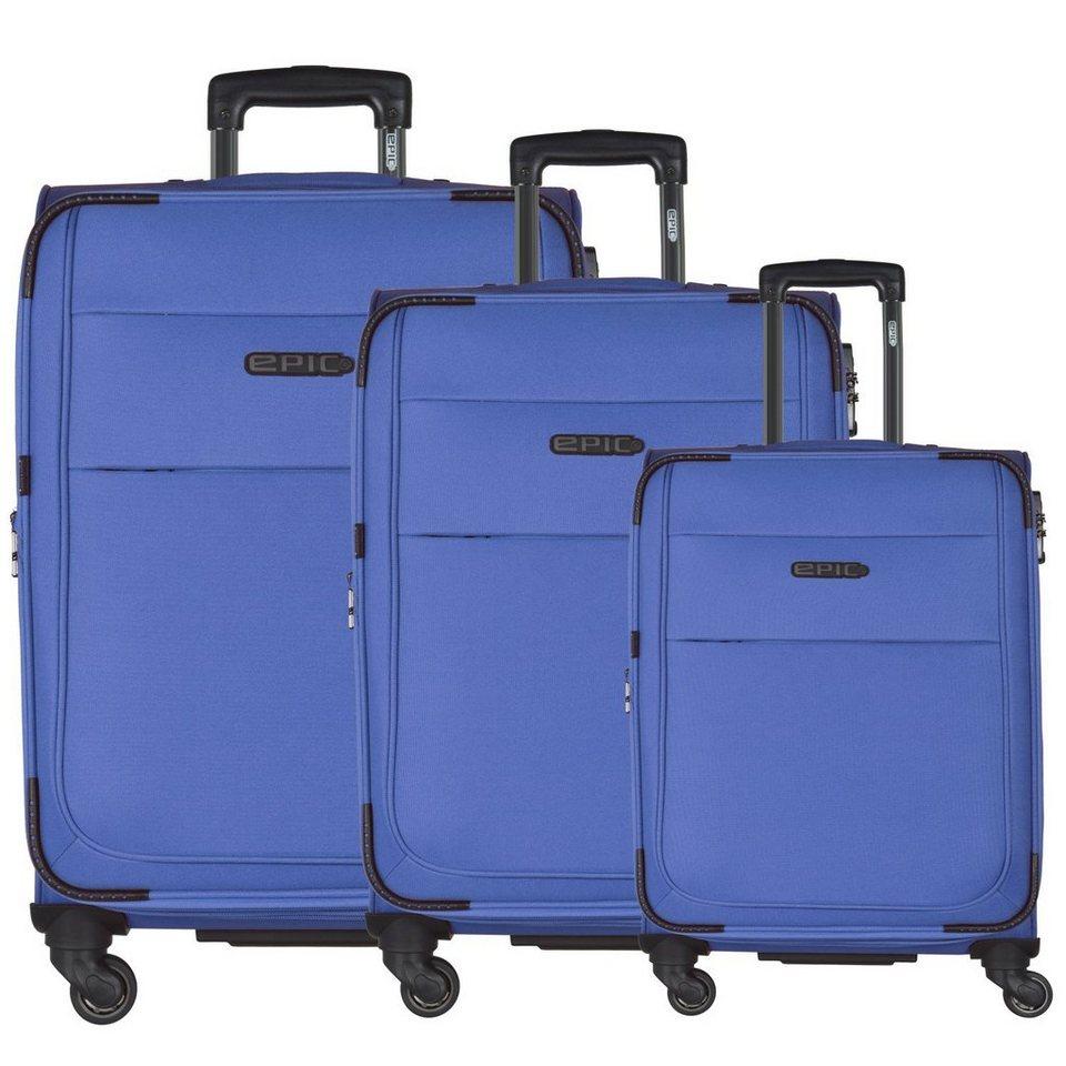 EPIC DiscoveryAIR 4-Rollen-Trolley Kofferset 3-tlg. 77 cm in blau