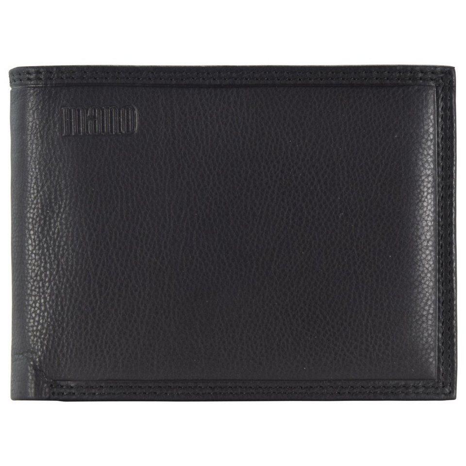 MANO Mollis Geldbörse Leder 12,5 cm in schwarz