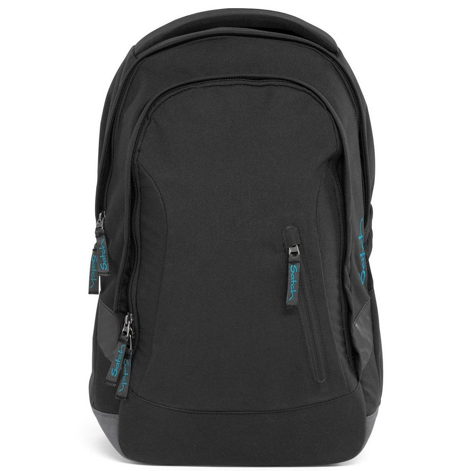 Satch Sleek Schulrucksack 45 cm Tabletfach in Black Bounce