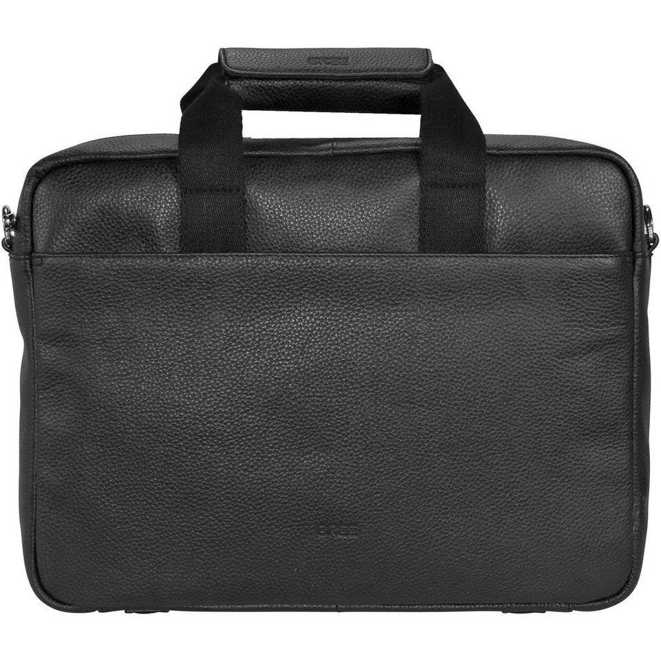 BREE Bree Rotterdam 3 Aktentasche Leder 40 cm Laptopfach in black grained