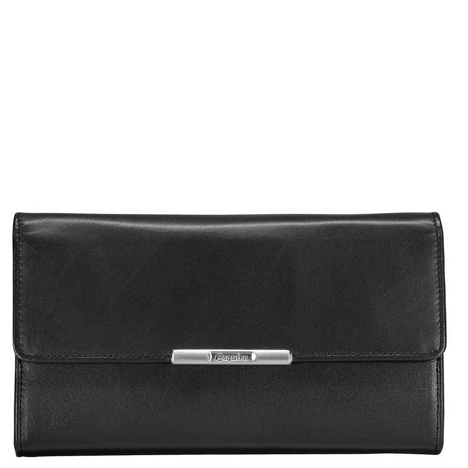 Esquire Esquire Helena Geldbörse Leder 18 cm in schwarz