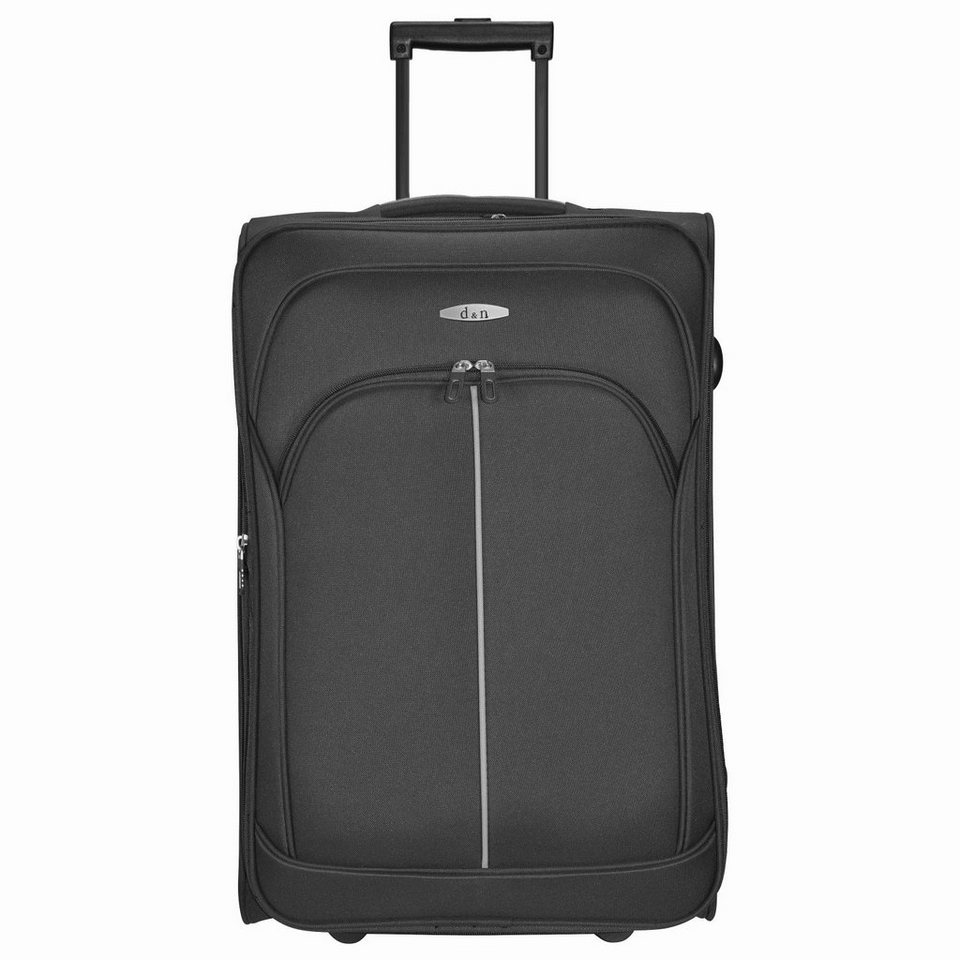 d & n d&n Travel Line 7200 2-Rollen Trolley 62 cm in schwarz