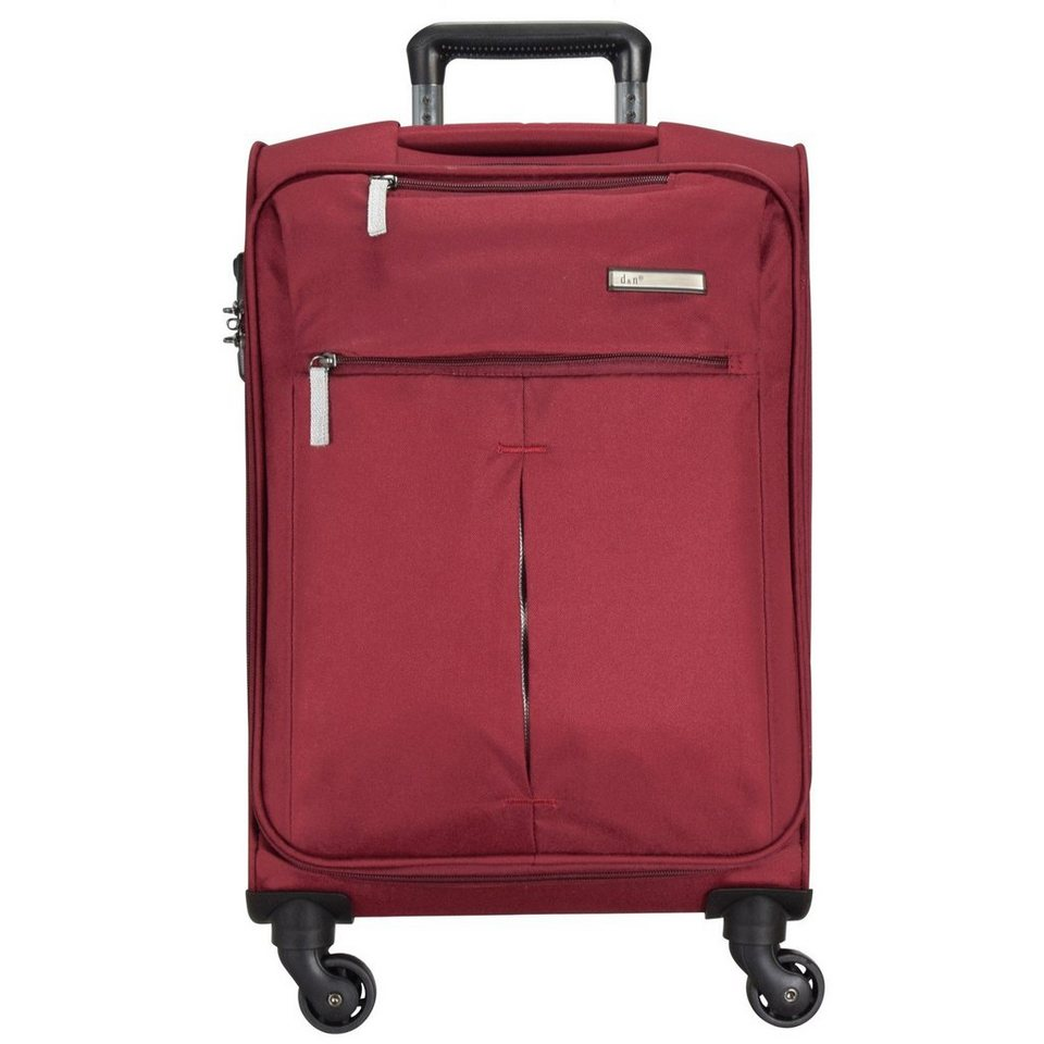 d & n Travel Line 7504 4-Rollen Trolley 76 cm in bordeaux