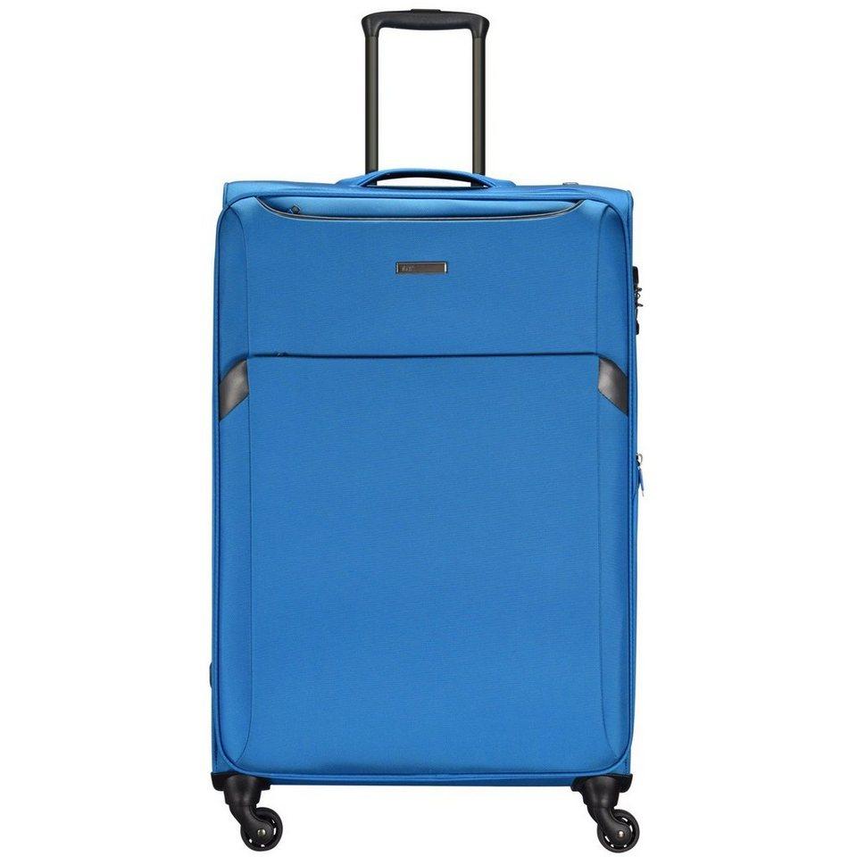 d & n Travel Line 7604 4-Rollen Kabinentrolley 55 cm in blau