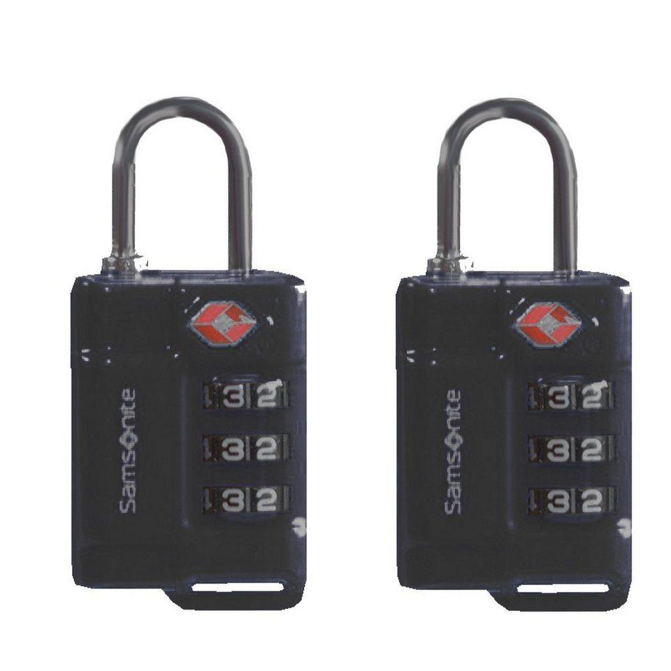 Samsonite Accessories Reise-Sicherheit TSA-Vorhängeschloss 2er Set 2,5 cm in black