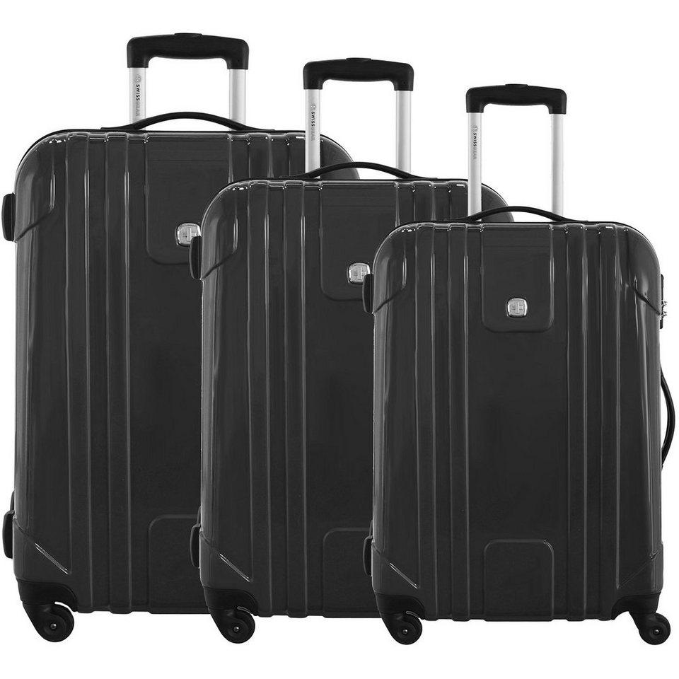 Wenger Luggage Reisegepäck PC Lite 4-Rollen Trolley-Set 3-tlg. in schwarz