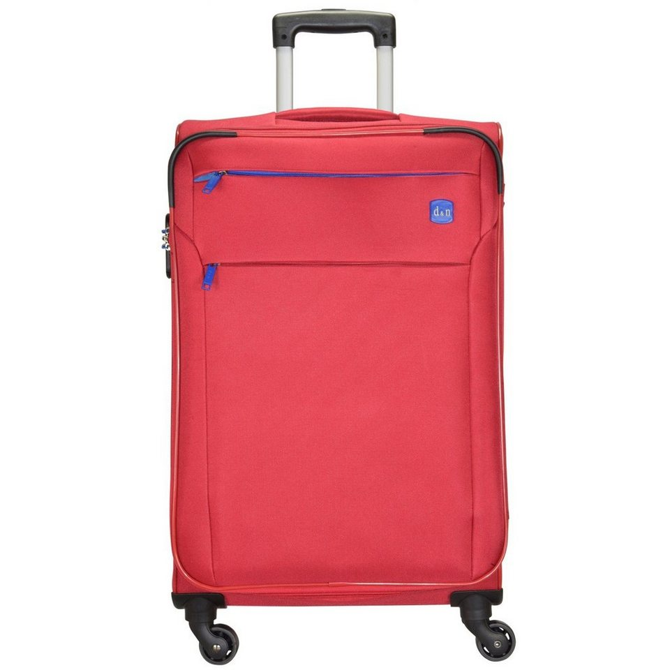 d & n d&n Travel Line 7104 4-Rollen Tolley 62 cm in rot