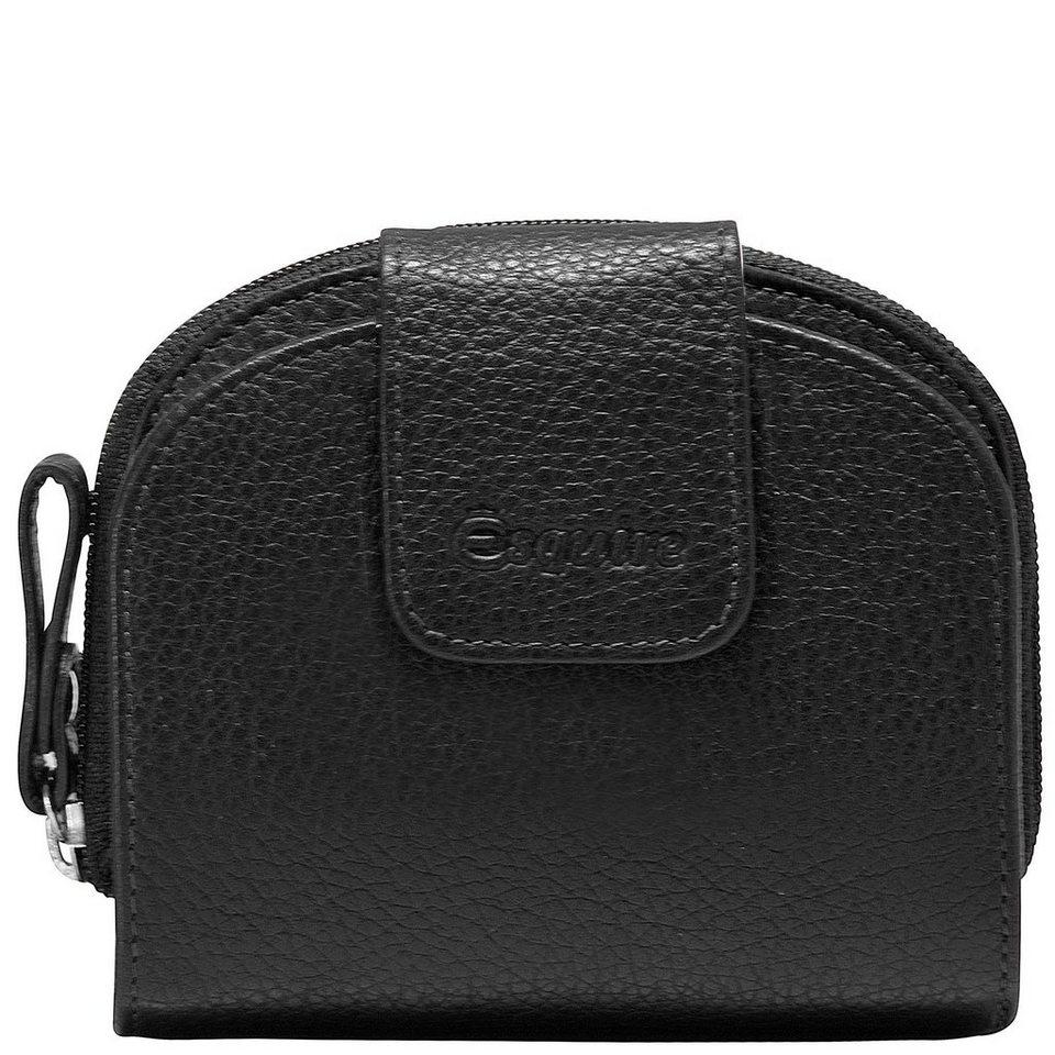 Esquire Primavera Geldbörse Leder 11 cm in schwarz