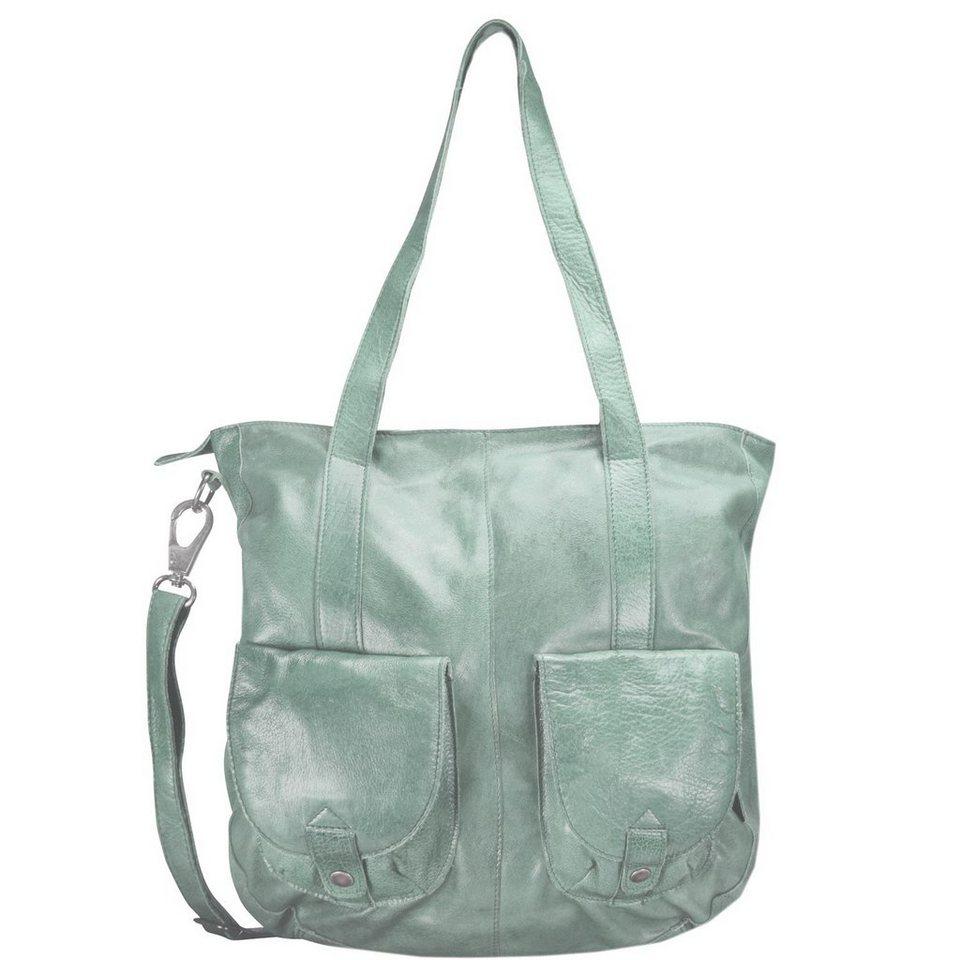 Greenburry Stainwashed Shopper Tasche Leder 35 cm in green
