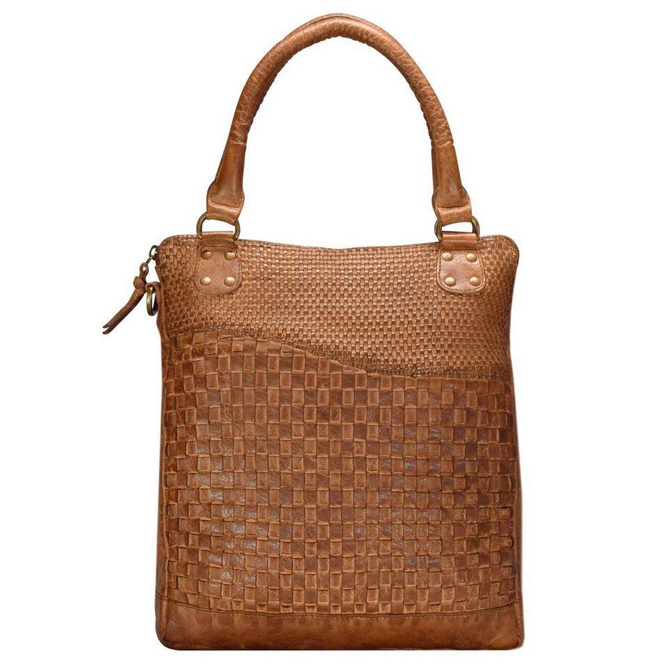 GREENLAND Femi & Nine Ladies Bag Handtasche Leder 32 cm in cognac