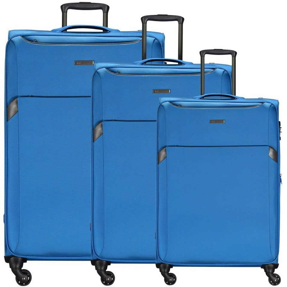 d & n d&n Travel Line 7604 4-Rollen Trolley-Set 3-tlg. in blau