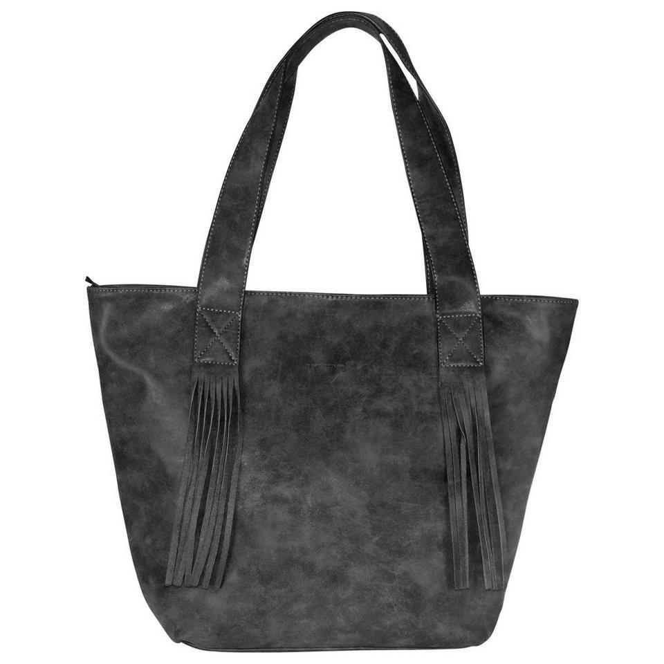 Tom Tailor Denim Diana Handtasche 45 cm in schwarz