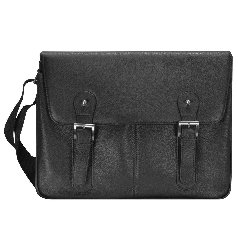 d & n Basic Messenger Tasche Leder 40 cm Laptopfach