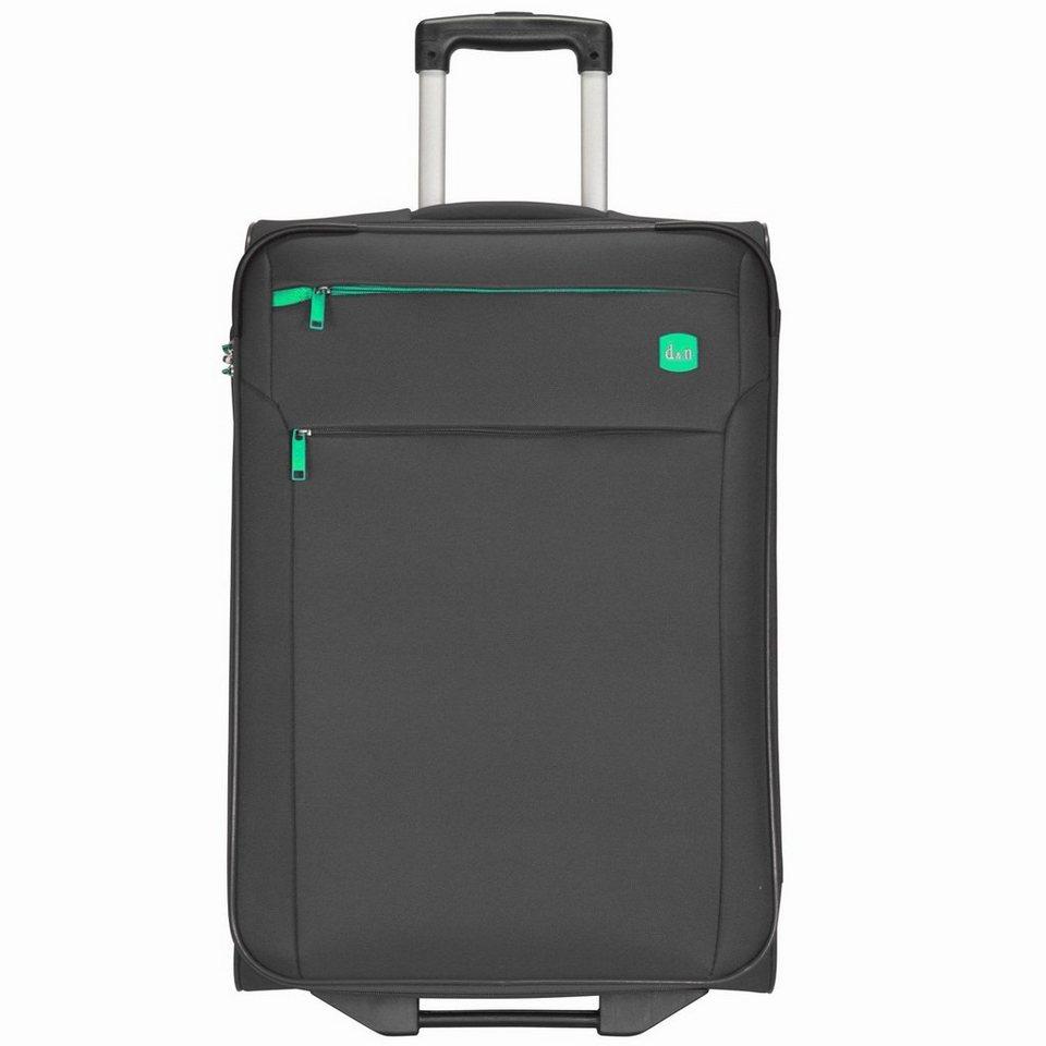 d & n Travel Line 7100 2-Rollen Trolley 62 cm in schwarz