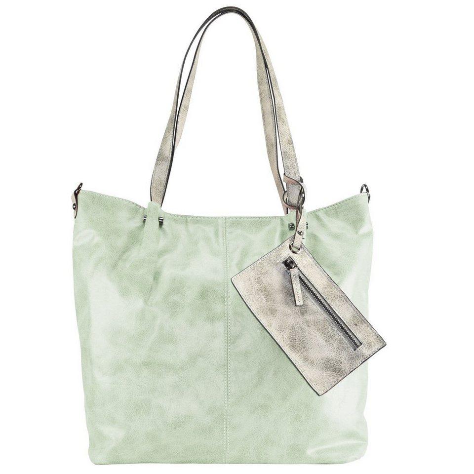 Maestro Surprise 16 Bag in Bag Shopper Tasche 41 cm in mint hellgrau