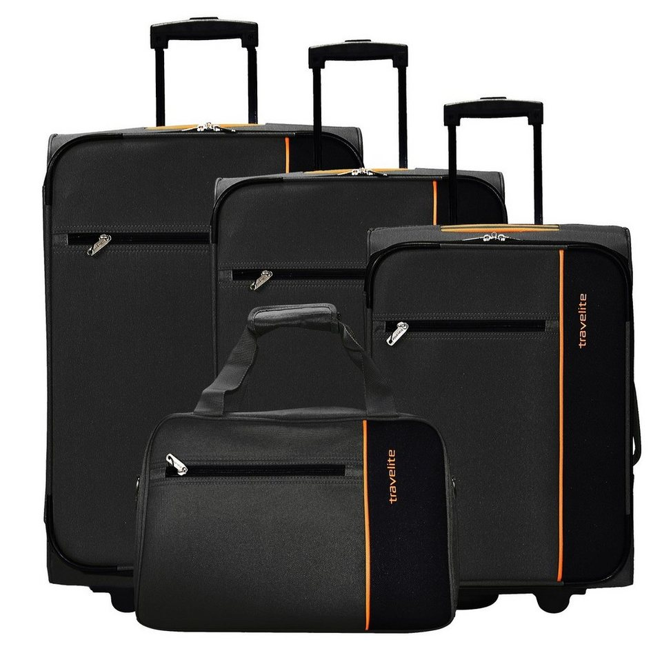 travelite portofino 2 rollen kofferset boardtasche 4tlg. Black Bedroom Furniture Sets. Home Design Ideas