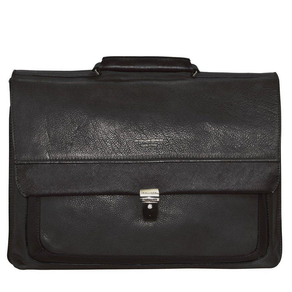 Piquadro Piquadro Archimede Aktentasche Leder 41 cm Laptopfach in schwarz
