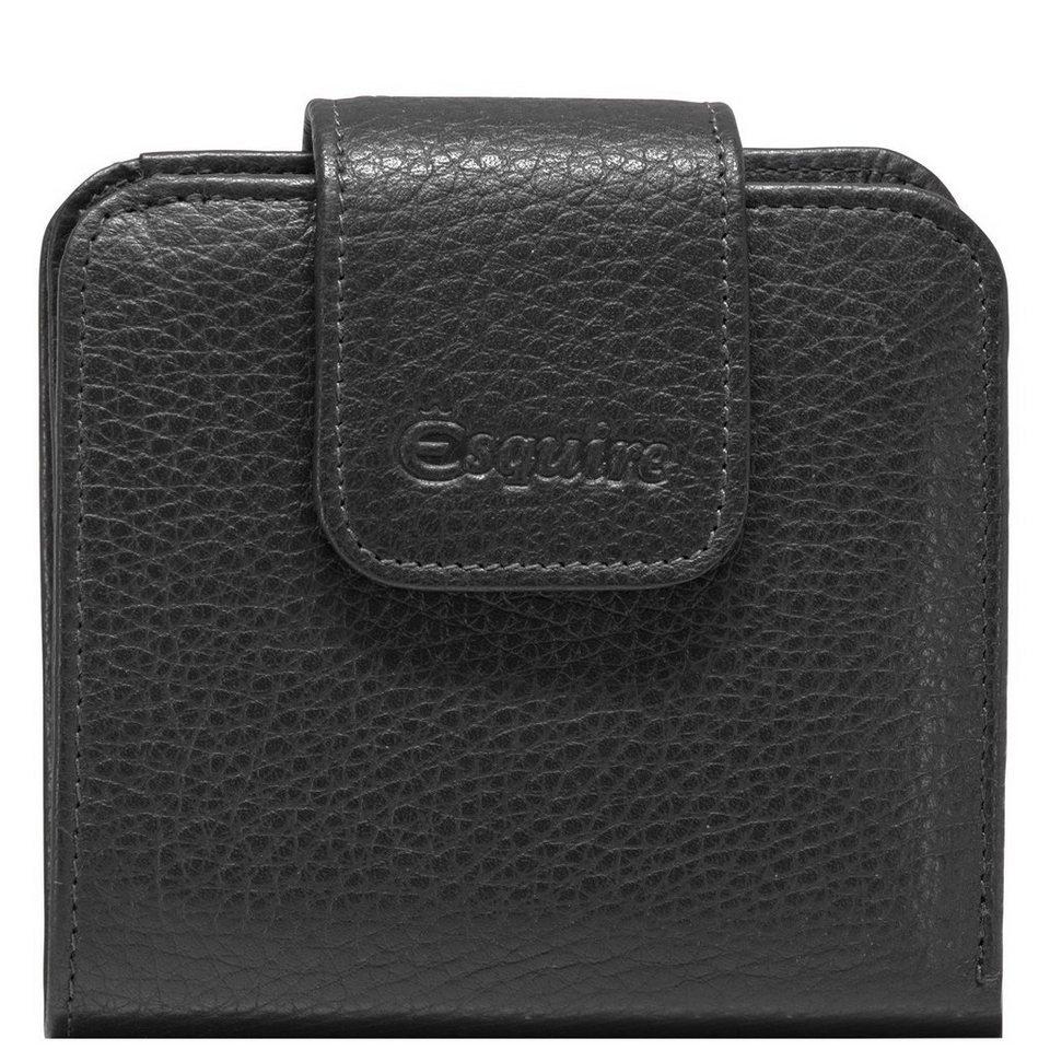 Esquire Primavera Geldbörse Leder 10 cm in schwarz