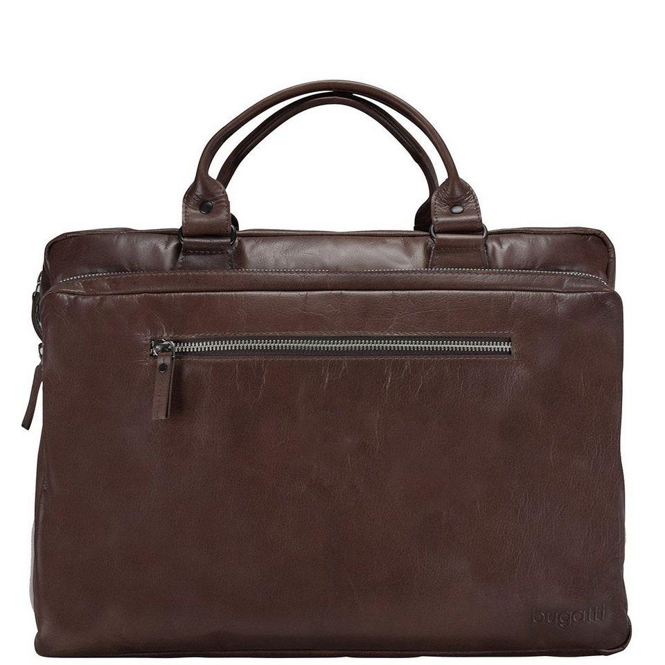 Bugatti Vita Aktentasche Leder 40 cm Laptopfach in brown