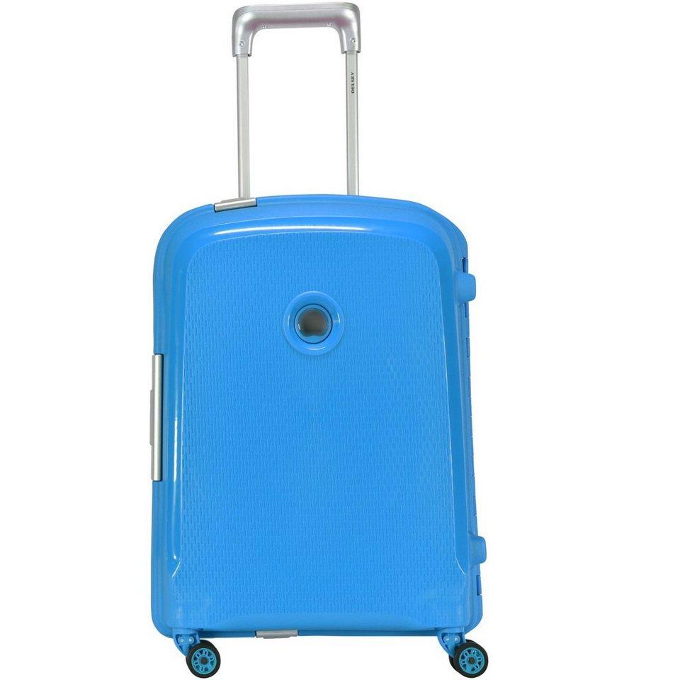 Delsey Belfort Plus 4-Rollen Kabinentrolley 55 cm in teal blue