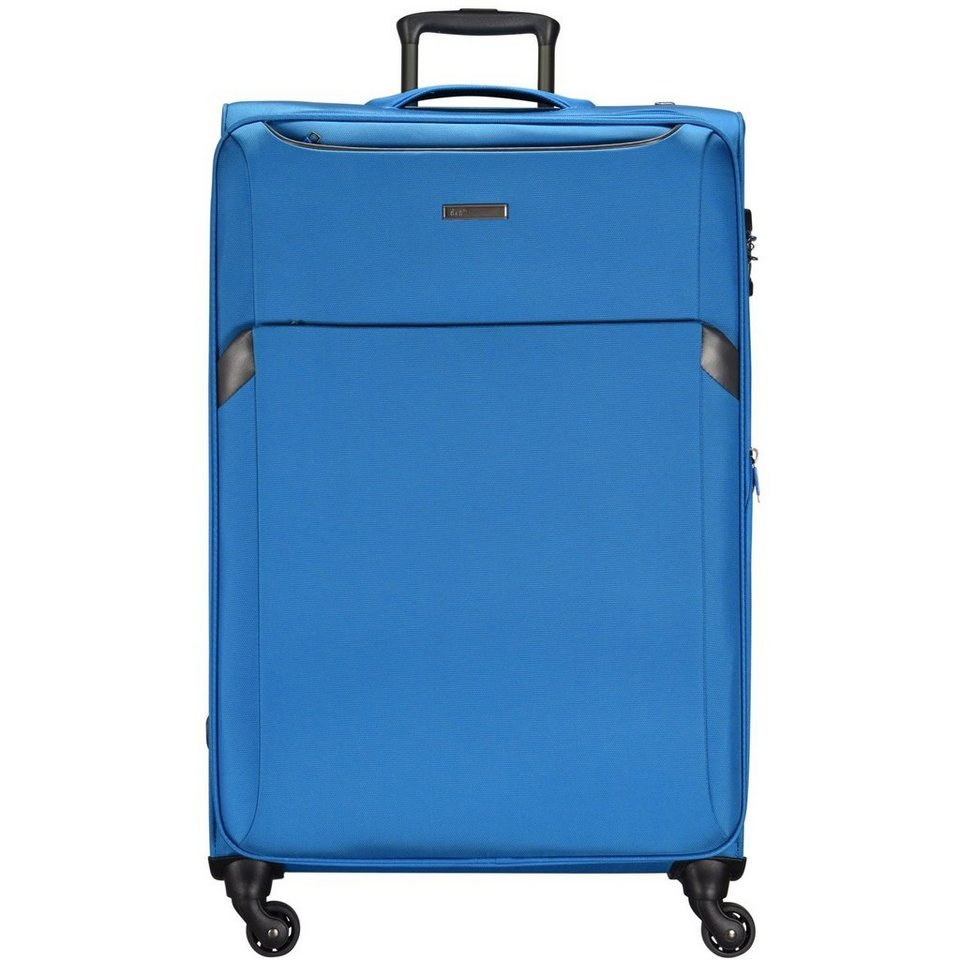 d & n d&n Travel Line 7604 4-Rollen-Trolley 78 cm in blau