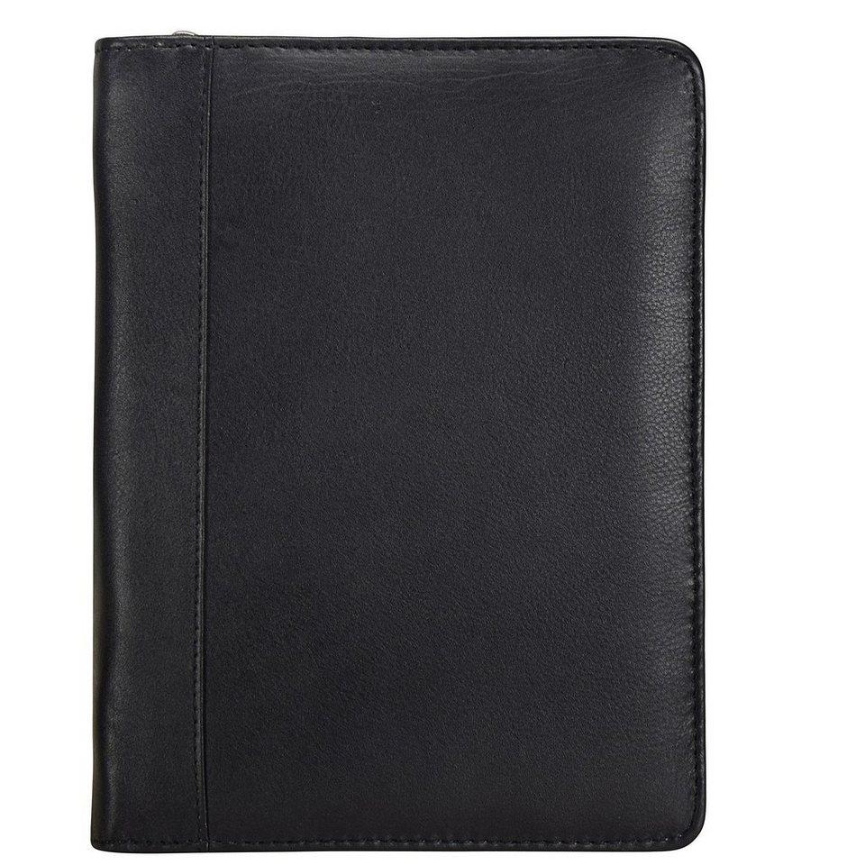 Esquire Eco Notizblock Leder 18 cm in schwarz