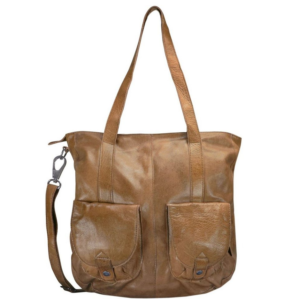 Greenburry Greenburry Stainwashed Shopper Tasche Leder 35 cm in camel