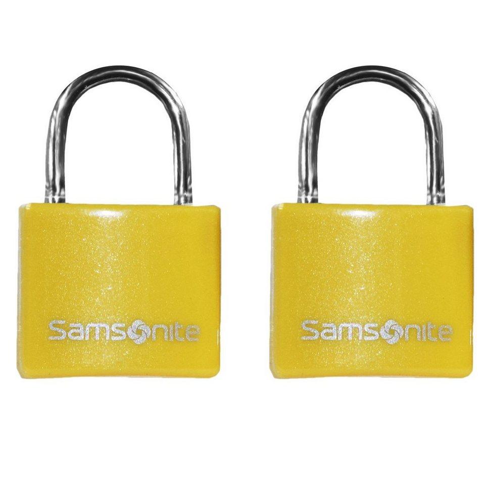Samsonite Accessories Reise-Sicherheit Vorhängeschloss 2er Set 2,5 cm in yellow