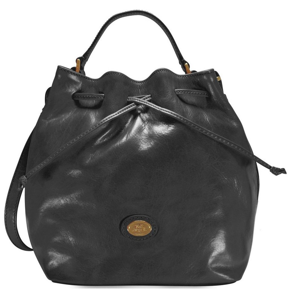 The Bridge Story Donna Beuteltasche Leder 24 cm in nero-goldfarben