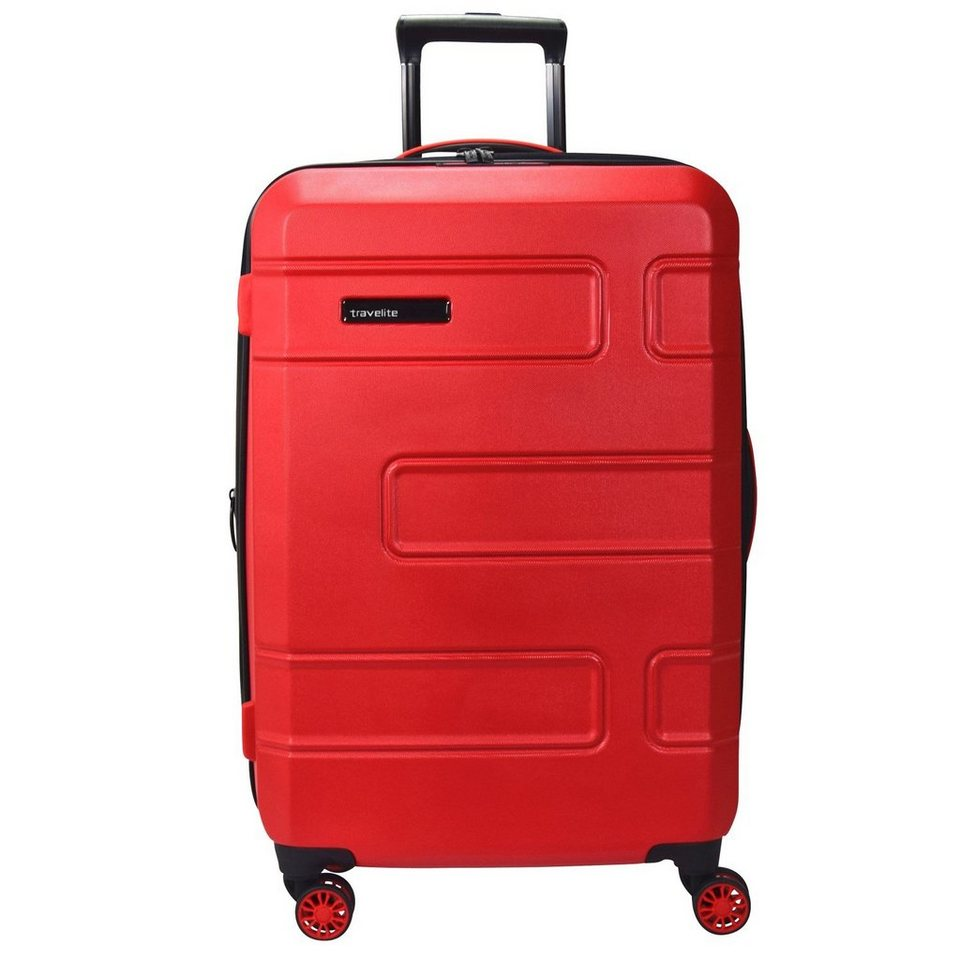 travelite Move 4-Rollen Trolley 76 cm in rot