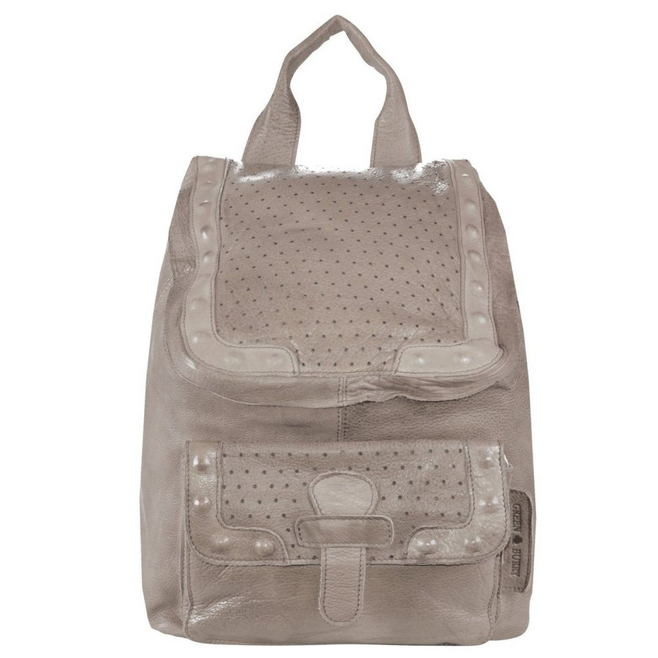 Greenburry Greenburry Stainwashed Rucksack Leder 25 cm in taupe