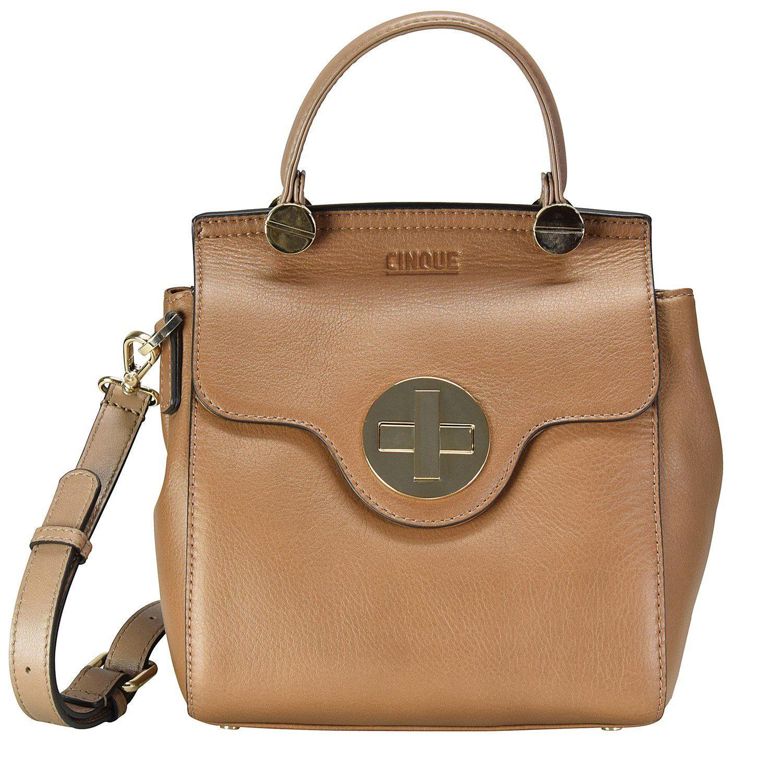 Cinque Dorina Handtasche Leder 19 cm