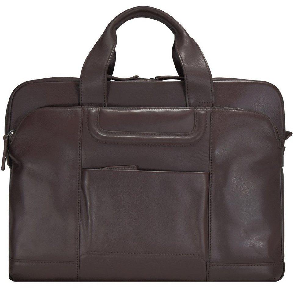 d & n Classic Brown Aktentasche Leder 40 cm Laptopfach in braun