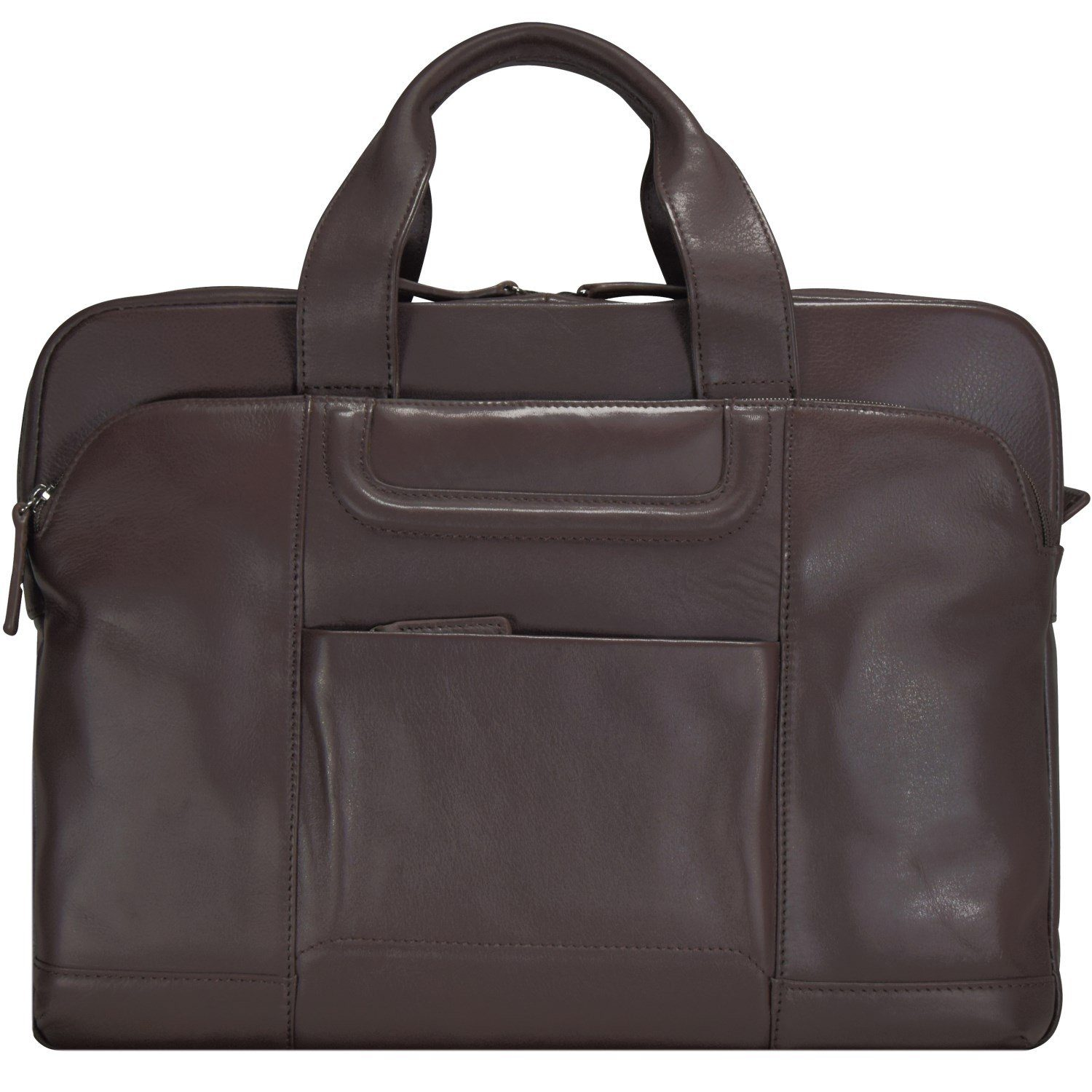 d & n d&n Classic Brown Aktentasche Leder 40 cm Laptopfach