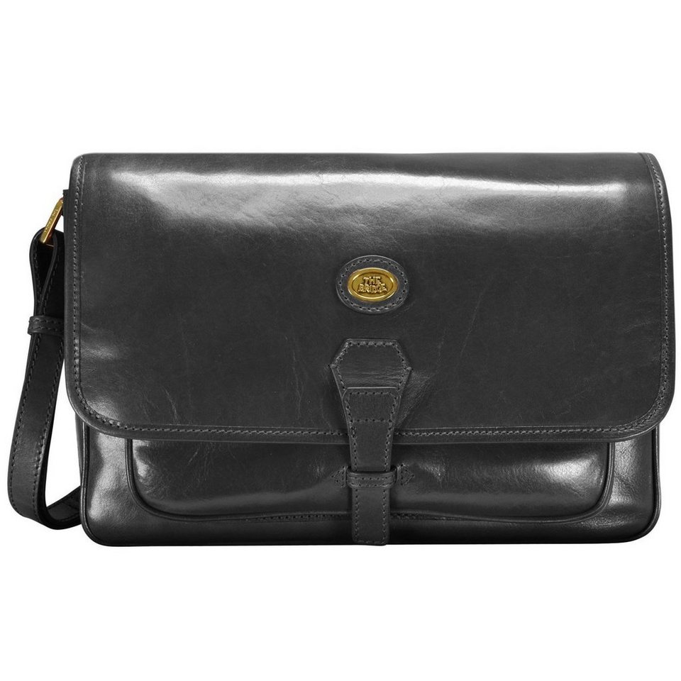 The Bridge Story Donna Umhängetasche Leder 34 cm in nero goldfarben