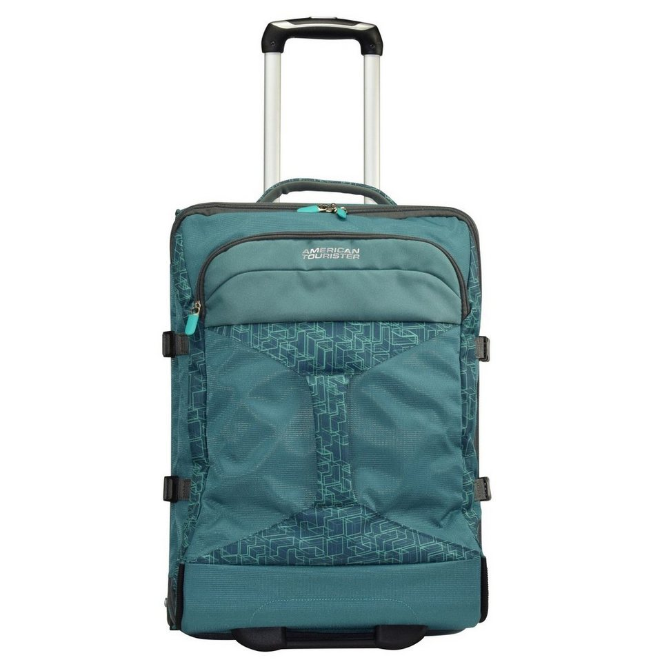 American Tourister Road Quest 2-Rollen-Reisetasche Duffle 55 cm in sea green print