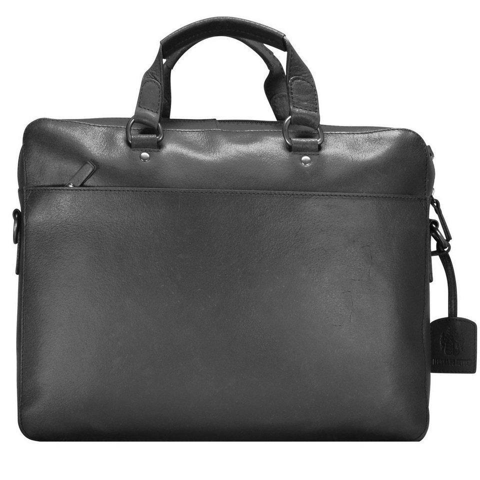 Leonhard Heyden Leonhard Heyden Dakota Aktentasche Leder 38 cm Laptopfach in schwarz