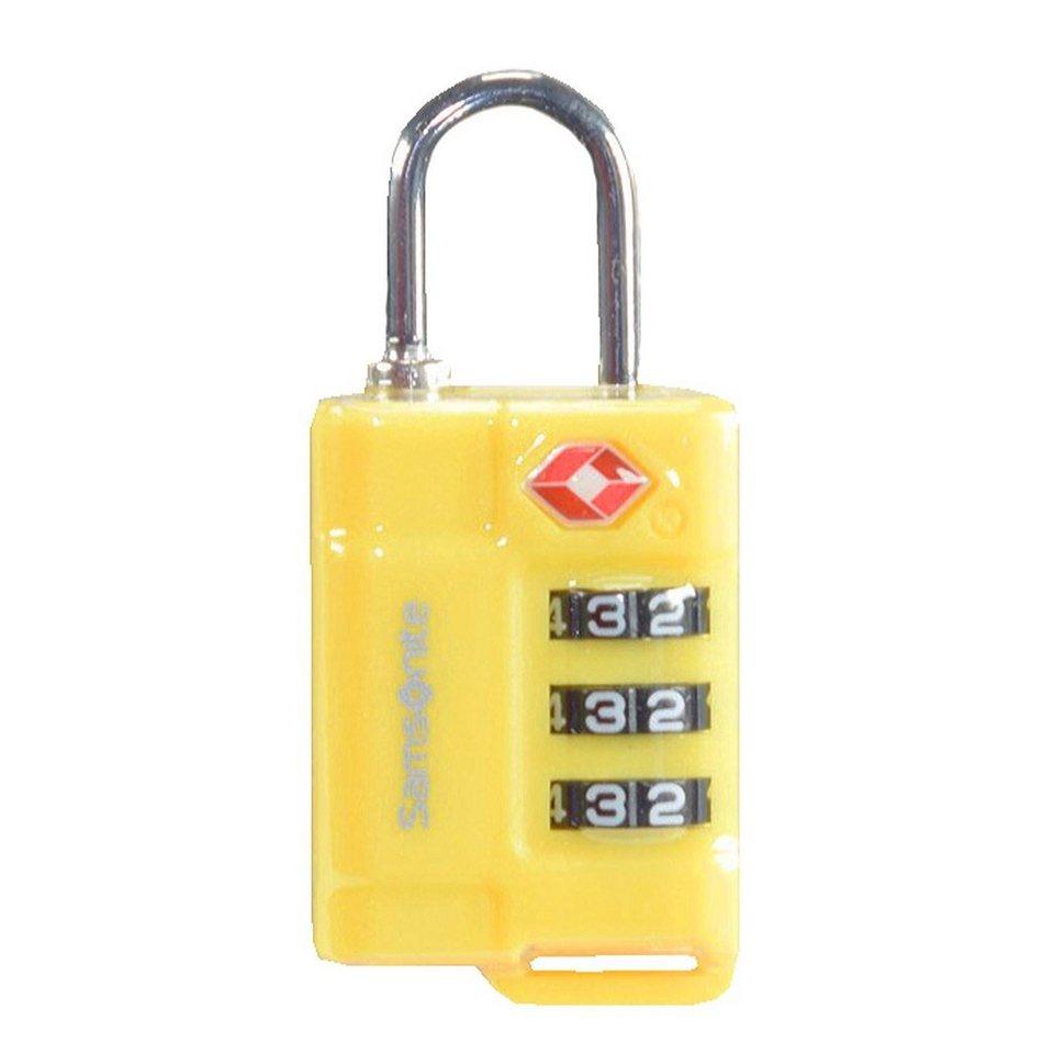 Samsonite Samsonite Accessories Reise-Sicherheit TSA-Vorhängeschloss 2,5 in yellow