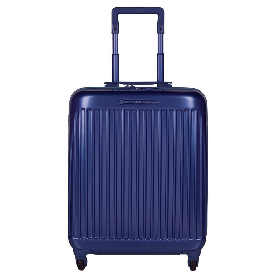 Piquadro Piquadro Relyght 4-Rollen Kabinentrolley 55 cm in blue