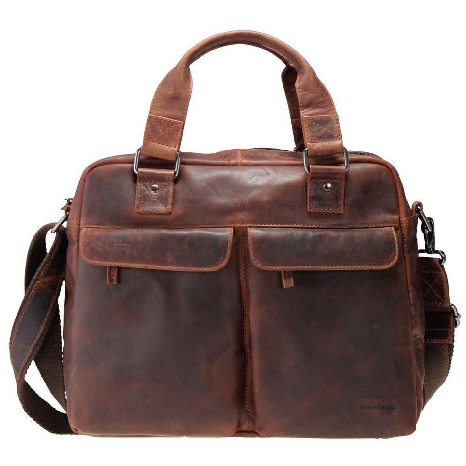 GREENLAND Montana Handtasche Leder 38 cm Laptopfach in natur
