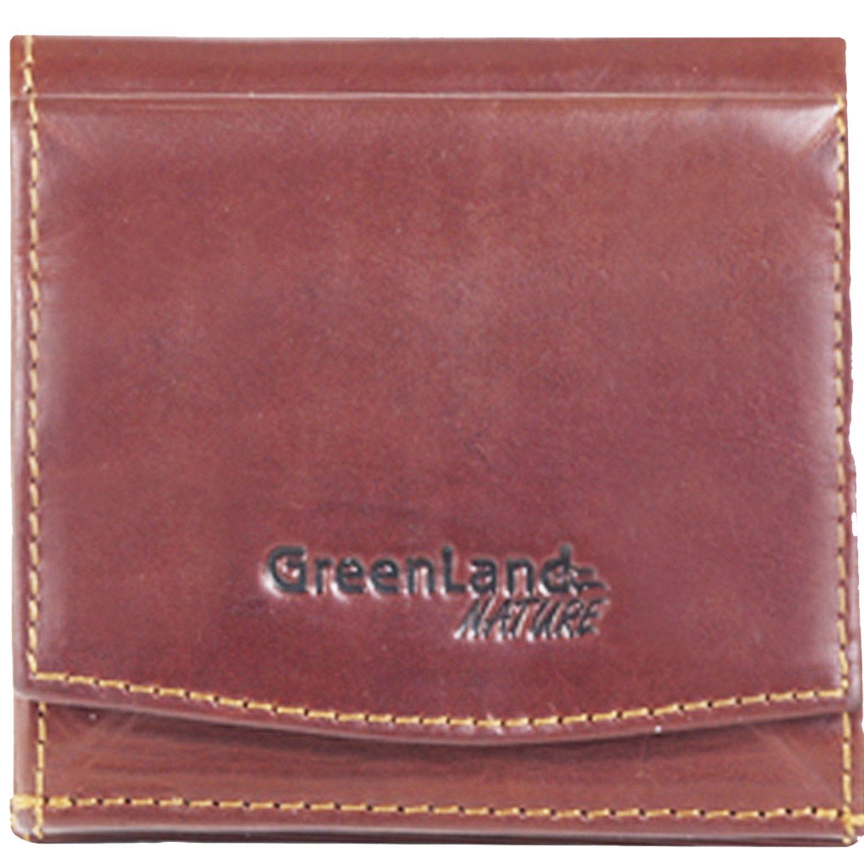 GREENLAND Rubin Geldbörse Schachtelbörse Leder 10 cm