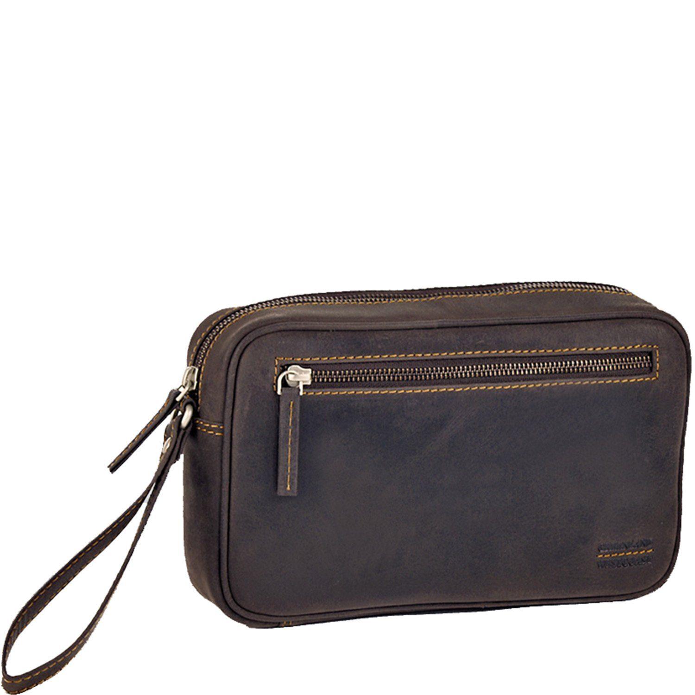 GREENLAND Westcoast Handgelenktasche Herrentasche Leder 25 cm